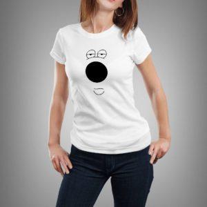 fehér brian mintás női póló