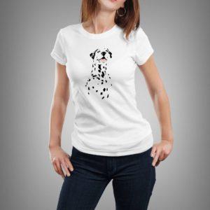 fehér dalmata mintás női póló
