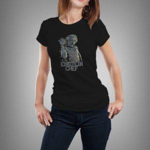fekete einstein chef mintás női póló