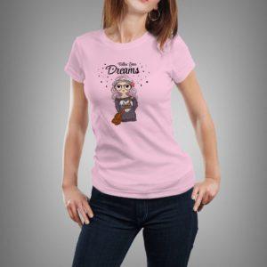 rózsaszín follow your dreams női póló