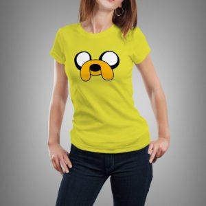 sárga jake mintás női póló