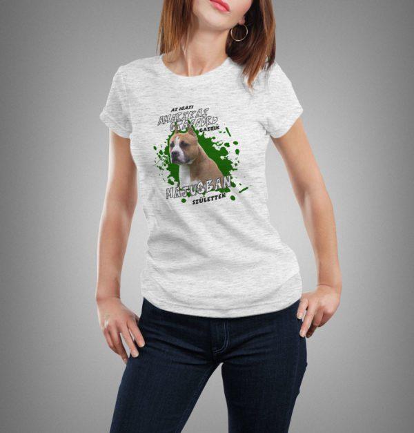 világosszürke amerikai stafford mintás női póló