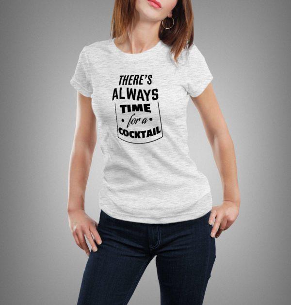 világosszürke coctail mintás női póló