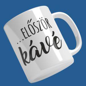 ...először kávé mintás bögre