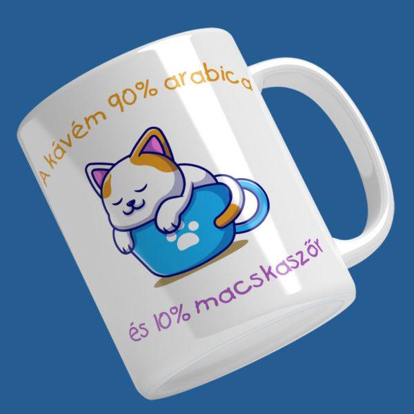 a kávém 90% cicáa mintás bögre
