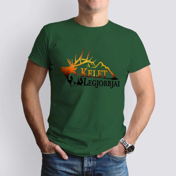 vadászzöld a kelet legjobbjai mintás férfi póló