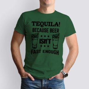 vadászzöld tequila because mintás férfi póló